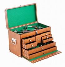 Toolbox Tool Box Drawers 8 Storage Portable Garage Organizer Wood Brown ... - $107.06