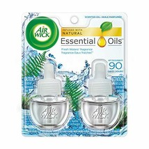 Air Wick Scented Oil Twin Refill Fresh Waters 2X.67 oz Pack of 5