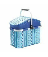 Picnic Bag Basket Large Insulated Lunch Tote Backpack Camping Hiking Kay... - $27.96