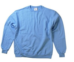 New  Champion 2X 50/50 Eco Smart Crew Neck Sweatshirt Light Blue image 2