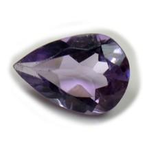 Natural Faceted Purple Amethyst Loose Gemstone 4 Carat Pear Cut Wholesal... - $11.78