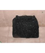 1950's Vintage Black Beaded Evening Bag Purse - $44.55