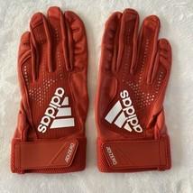 Adidas AdiZero 4.0 Baseball Batting Gloves Red Large New - $42.56