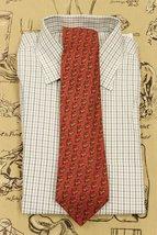 Hermes of Paris Twill Silk Stag Print Tie - $225.00