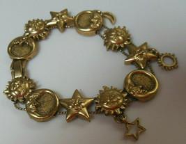 Slider Charm Bracelet Gold-tone Sun, Stars, Moon - $54.45