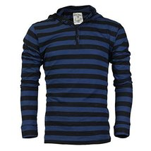 Royal Knights Men's Lightweight Slim Fit Pullover Henley Shirt Hoodie (Large, 06