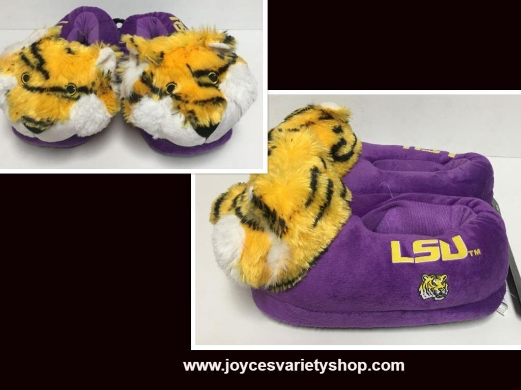 LSU Louisiana State University Women'a Slippers Many Sizes Purple Tigers