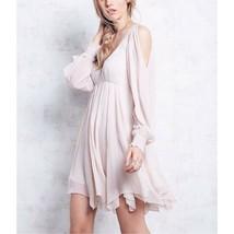 Tatiana Beaded Swing Dress, Champange, Size 4 $300 Free People - $154.50