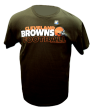 Cleveland Browns Team Helmet NFL Football Logo T-Shirt - $22.95