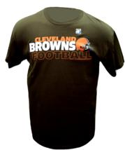 Cleveland Browns Team Helmet NFL Football Logo T-Shirt - $22.95