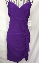 Charlotte RussuCocktail Dress Size Medium Purple Speghetti Strap New - $14.50
