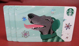 Lot of 3 Starbucks, 2018 Gray Dog Recyclable Gift Cards New with Tags - $6.86