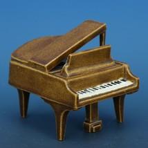 Vintage Porcelain Dollhouse Miniature Grand Piano Good Casting - No Bench image 1