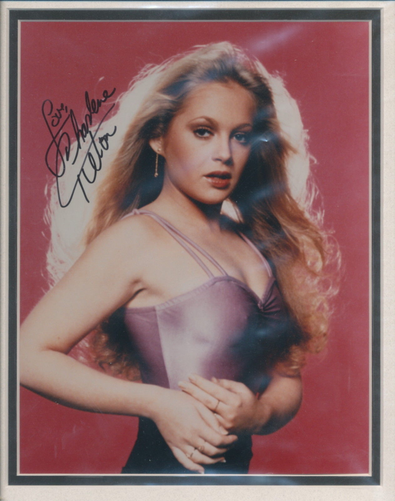 Primary image for Charlene Tilton signed color photo beautifully double matted. Nice !!