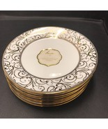 Ciroa Luxe Gold Metallic Velluto Scroll  Accent Plates Set 8 ~NEW ~ - $79.99
