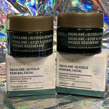 2x 15mL Biossance Squalane Glycolic Renewal Facial (30mL Total) NEW WITH BOX
