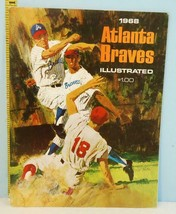 1968 Atlanta Braves Illustrated Baseball Yearbook Double Play Cover - $34.65