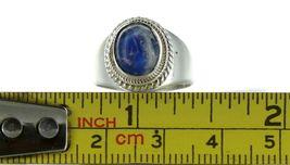 Vintage Sterling Silver Natural Blue Quartz Cabochon Fashion Ring No. 2106 image 7
