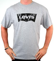 NEW NWT LEVI'S MEN'S PREMIUM CLASSIC GRAPHIC COTTON T-SHIRT SHIRT TEE GRAY