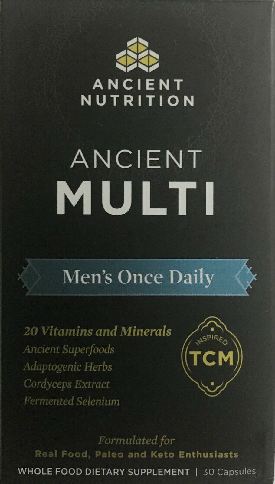 Primary image for Ancient Nutrition Ancient MULTI MEN'S Once Daily for real food, Paleo, & Keto