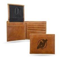 NHL New Jersey Devils Laser Engraved Billfold Wallet - Brown - $26.45