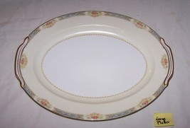 """Noritake """"Chevonia"""" Large Platter-Occupied Japan-16 1/2 inches-blue, gol... - £23.29 GBP"""