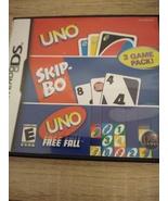 Nintendo DS Uno/Skip-Bo/Uno Free Fall - $10.00