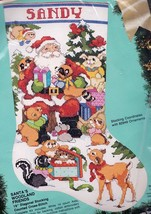 Bucilla Santas Woodland Friends Animals Bear Cross Stitch Stocking Kit 82919 - $42.95