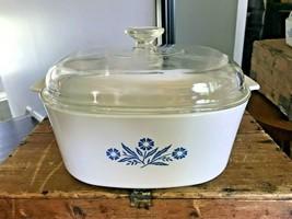 Corning Ware Cornflower Blue Large Casserole Baking Dish Lidded P-84-B, 4 Quart - $77.39