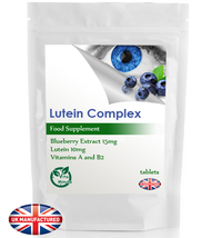 Eyehealth Vitamins Minerals Lutein & Blueberry Complex 30/60/90/120/180 ... - $4.29+