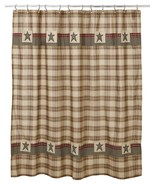 Rustic **Primitive** Plymouth Shower Curtain Farmhouse Bath Lodge log home - $39.99