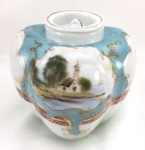 Antique Nippon Dow Sie Cot Ure Pepper Shaped Lidded Jar Gold 1870-1910 H... - $24.45