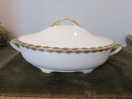 "ROSENTHAL CHINA SELB BAVARIA BOTTACELLI PATTERN OVAL CASSEROLE WITH LID 13"" - $18.76"