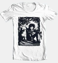 Edward Scissorhands Dog Photo T-shirt retro 90s movie cotton graphic white tee image 2