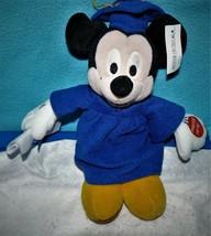 Walt Disney World Mickey Mouse 2002 Grad Nite Bean Bag Plush Cap & Gown - $9.41