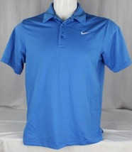 Nike Hommes Dry Fit Actif Polo Bleu Polyester TAILLE L - $13.67