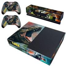 Regular Xbox One Console Vinyl Decals Stickers Skin TRex Jusrassic World Cover - $12.47
