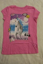 Childrens Place Top Sz M 10 12 XL 14 Pink Unicorn Emoji T-Shirt Spring S... - $19.99