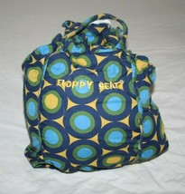 Floppy Seat Green Blue Circle Stripe Dot Shopping Cart Cover Highchair C... - $15.45