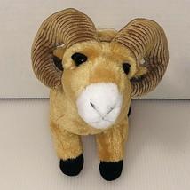 "Wild Republic Big Horn Ram Sheep Plush Brown Stuffed Animal 11"" Tall Rea... - $17.81"
