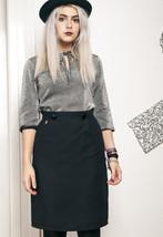 80s vintage black pencil skirt - $34.36