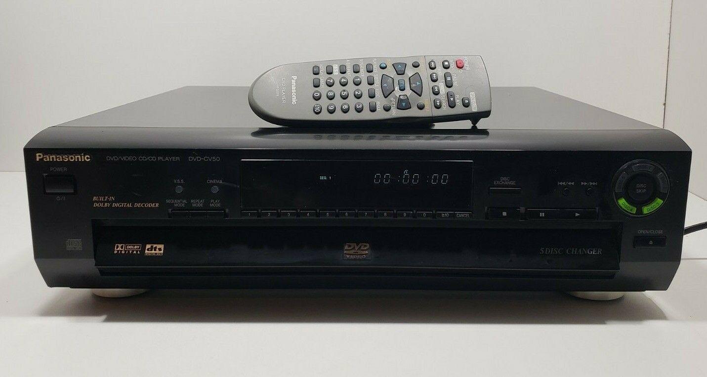 Panasonic DVD-CV50 DVD/Video CD/CD Player 5 Disc Changer with Remote