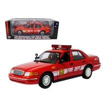 2001 Ford Crown Victoria Fire Chief Car 1/18 Diecast Model Car by Motorm... - $58.69