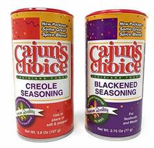 Creole Seasoning 3.8 oz & Blackened Seasoning 2.75 oz Cajun's Choice Lou... - $19.75
