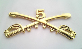 5TH Cavalry Insignia Swords Military Veteran Us Army Hat Pin 16144 (Large) Ho Lp - $5.94