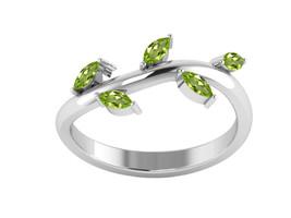 Pretty !! Peridot 925 Sterling Silver Ring Shine Jewelry Size-9.5 SHRI1272 - £11.25 GBP