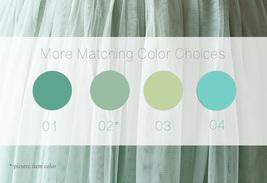 DUSTY BLUE Tulle Maxi Skirt Full Length Blue Wedding Bridesmaid Skirt Plus Size image 8