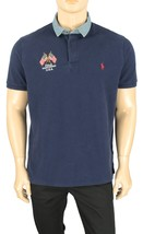 New Mens Polo Ralph Lauren Custom Slim Fit Usa Flag Blue Cotton Polo Shirt Xl - $49.99