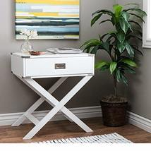 ModHaus Living Modern Wood Accent X Base Nightstand Campaign Sofa Table ... - $166.66