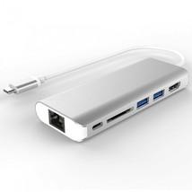 Portable USB-C Hub, UB3.1 Type-C Multiport 6-Port Adapter for 2016/2017 ... - $55.43